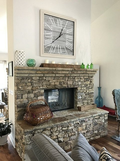 double fireplace great room side