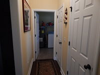 hallway from master to utility room