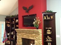 Wildwood fireplace with custom built-ins 2