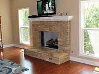 Carrington Family room and fireplace