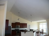 Vaulted Ceiling Over Kitchen