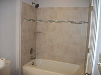 One Piece Tub with Tile