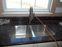 Bell III D Kitchen Sink Installed 58