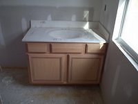 Ford B Bathroom Counter Top Installed 58
