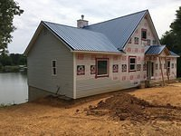 Front Elevation Siding Started