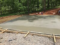 Garage Slab Poured