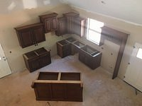 Kitchen Cabinets from Upstairs