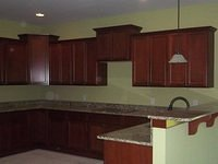 Stove Cooktop and Cabinets