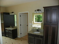 Master Bath His and Her Sinks with Granite Counter Tops