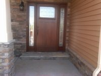 Custom Masonite Door with Sidelights