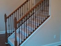 Stanton IV Half-exposed stairs with wrought Iron railing